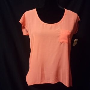 Bright Orange Sheer Top